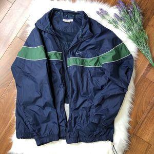 Nike   Blue & Green Striped Windbreaker Jacket